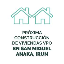 Próxima construcción de viviendas VPO en San Miguel Anaka, Irun