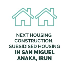 Next housing construction, subsidised housing in San Miguel/Anaka, Irun